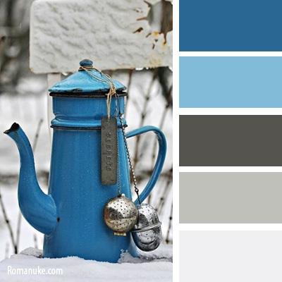 какой цвет смешивается с серо-голубым