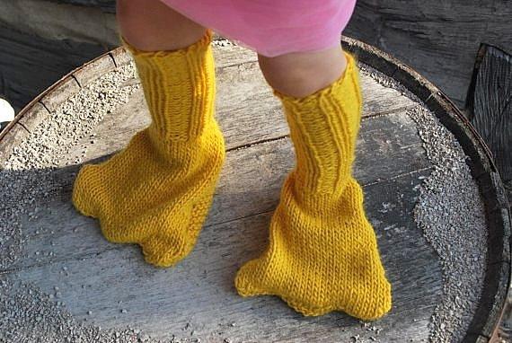 Необычные носки своими руками