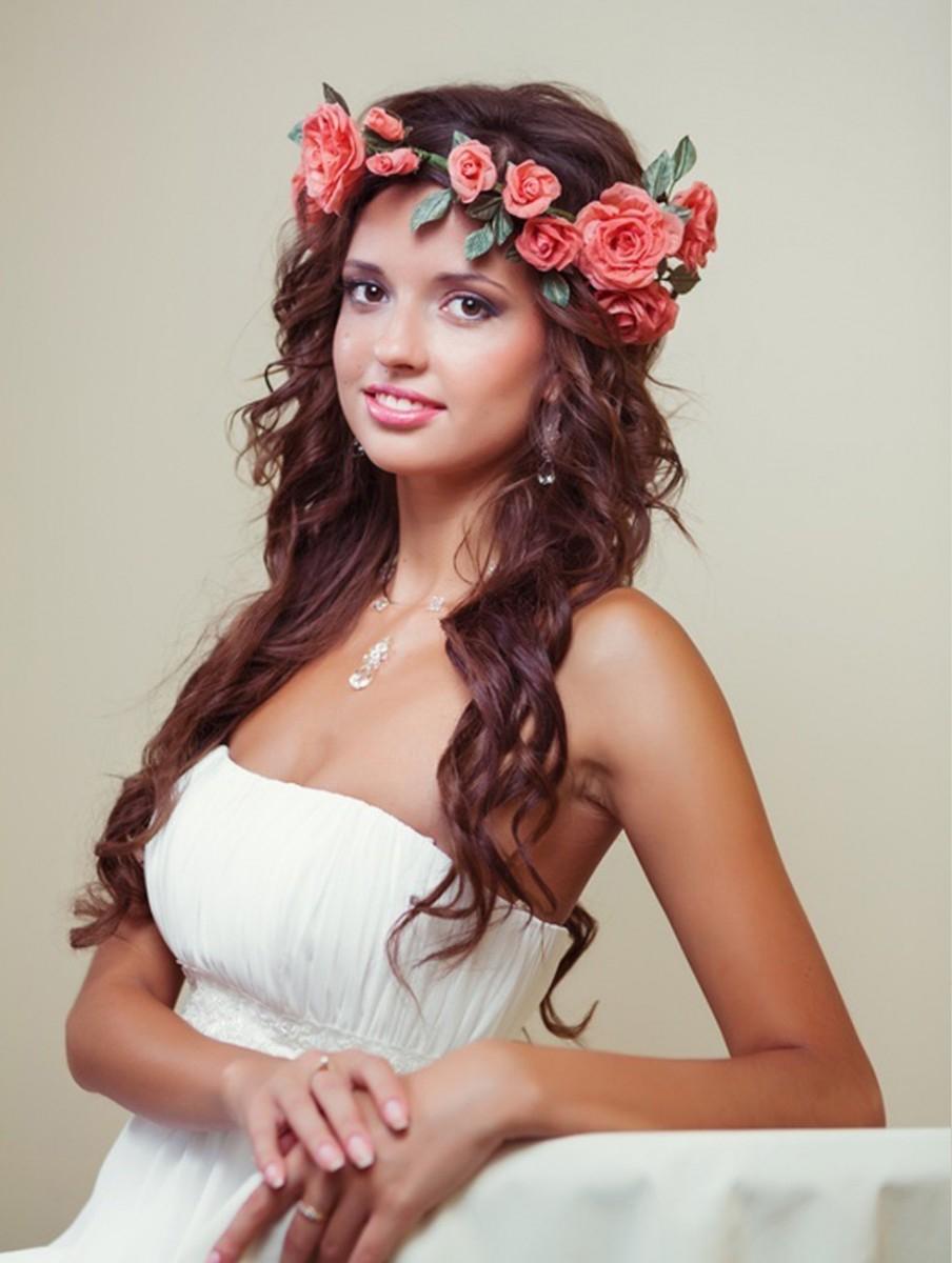 Свадебная прическа роза фото